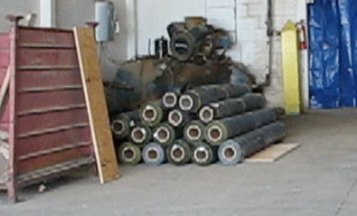 Picture of weed barrier rolls