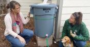 DIY Rain Barrel Installation